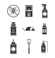exterminator service icons set vector image
