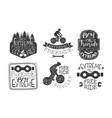 extreme freeride premium retro labels set bicycle vector image vector image