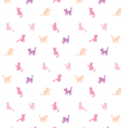 Feminine seamless cat pattern vector image vector image