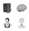 finance profession and other monochrome icon in vector image vector image