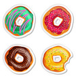 food label or sticker set donuts vector image