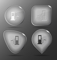 Fueling station Glass buttons vector image vector image
