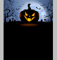 halloween background with scary pumpkin vector image vector image
