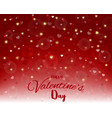 happy valentines daylight and hearts texture on vector image vector image