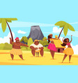 hawaii dance composition vector image vector image