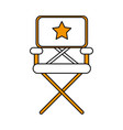 isolated director chair design vector image vector image