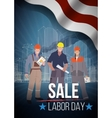 Labor day sale american text signs vector image