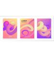 liquid color collection fluid gradient design vector image vector image