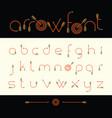 modern font archery arrows vector image vector image