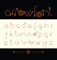 modern font of archery arrows vector image