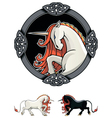 Mythical Unicorn vector image vector image