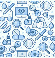 ophthalmology seamless pattern with vision care vector image