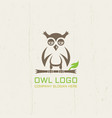 owl isolated line art logo template vector image vector image