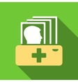 Patient Catalog Flat Long Shadow Square Icon vector image vector image