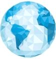 polygonal globe vector image vector image