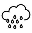 rain drops cloud icon outline style vector image vector image
