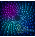 Rainbow vortex background vector image vector image