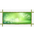 rectangle green bamboo stems border frame with vector image vector image