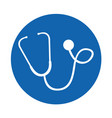 round icon stethoscope cartoon vector image vector image