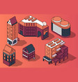 set of 3d isometric residential multi vector image