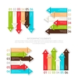 Set of design elements six options for infographic vector image vector image