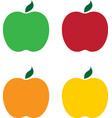 set of different apples design vector image