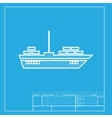 Ship sign White section of icon on vector image vector image