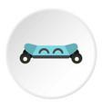 skateboard electric smart icon circle vector image vector image