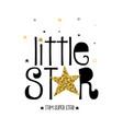 stars print design with slogan vector image vector image