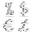 symbols of money vector image vector image