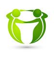 teamwork business people logo vector image vector image