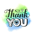 thank you text vector image vector image