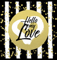 valentine lettering love collection hand drawn vector image