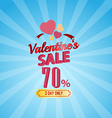 valentines day sale 70 Percent typographic vector image vector image