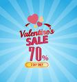 valentines day sale 70 Percent typographic vector image vector image