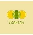 Vegan cafe vector image vector image