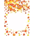 Vertical autumn banner template with blank space vector image