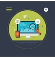 Website SEO optimization and mobile marketing vector image