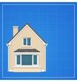 Architecture background with detailed house on a vector image