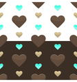 Seamless hearts pattern two colours vector image