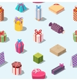 Seamless pattern with colored gift boxes vector image