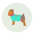 Yorkshire Terrier standing half-face icon vector image