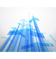 Abstract background with blue arrows vector image vector image
