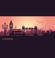 abstract cityscape london with sights at vector image vector image