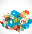 Abstract colorful and creative geometric template