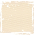Abstract grunge frame beige Background template vector image