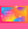 abstract modern design landing web page template vector image