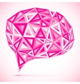 Abstract triangles pink idea bubble vector image vector image