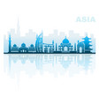 architectural landmarks of asia vector image vector image