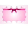 Baby pink frame vector image vector image